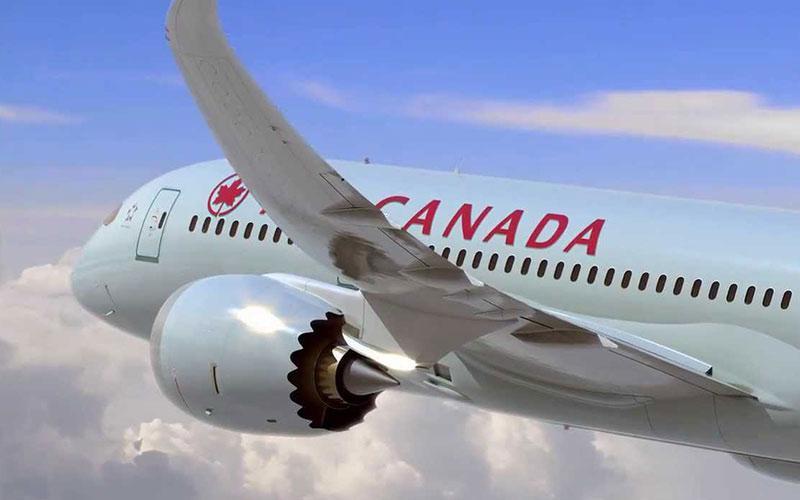 هدیه ایر کانادا به یک خانواده، 10 سال پرواز رایگان