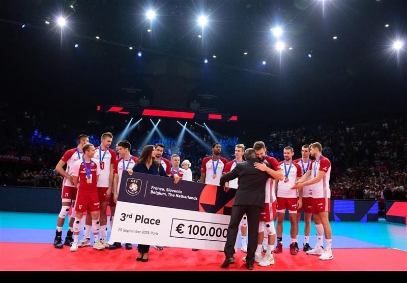 والیبال قهرمانی اروپا، لهستان به مدال برنز رسید