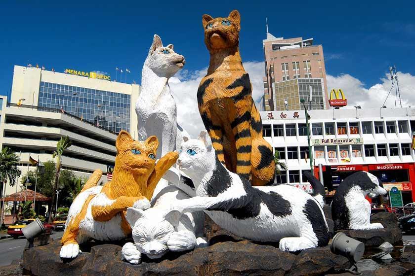کوچینگ، شهر گربه ها در مالزی