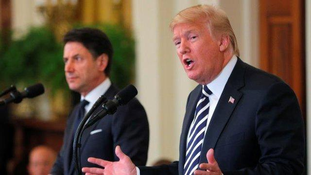 درخواست نخست وزیر ایتالیا برای کاهش تحریم های روسیه ، نظر ترامپ عوض نشد