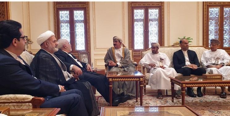 ملاقات ظریف با وزیر دفتر سلطان عمان