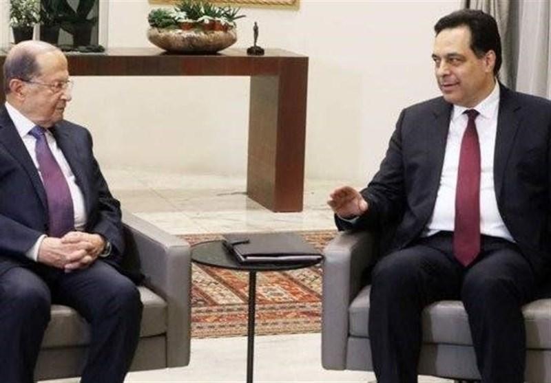 نشست عون و دیاب پیش از اولین جلسه دولت لبنان