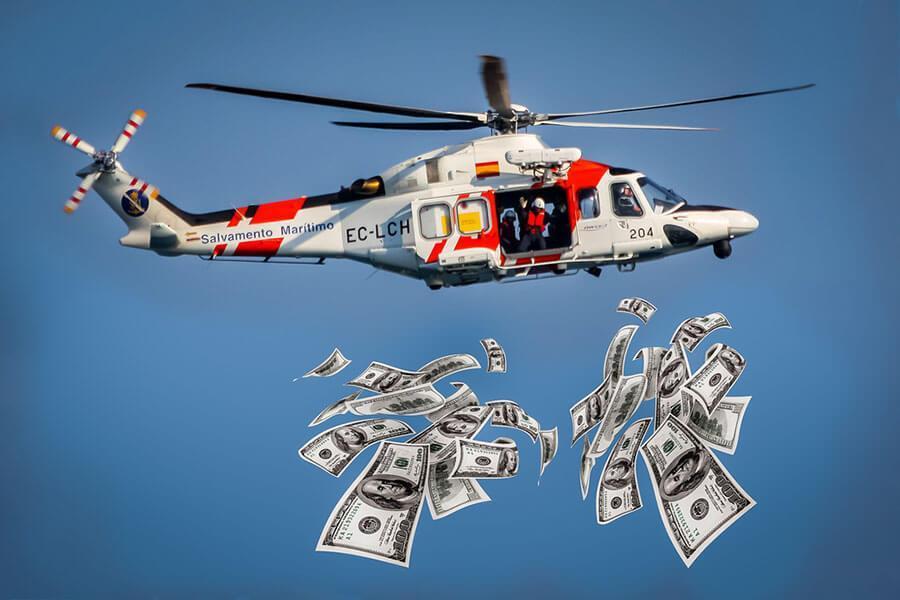بازار سرمایه در انتظار پول هلیکوپتری