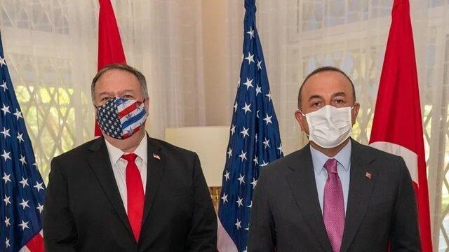 رایزنی پمپئو و وزیر خارجه ترکیه درباره شرایط مدیترانه