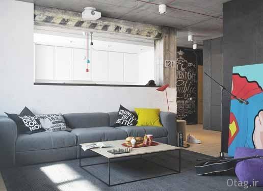 طراحی خلاقانه نمای داخلی آپارتمان مدرن