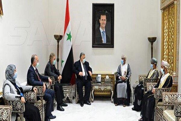 عمان از سوریه در مواجهه با توطئه های مختلف حمایت می نماید
