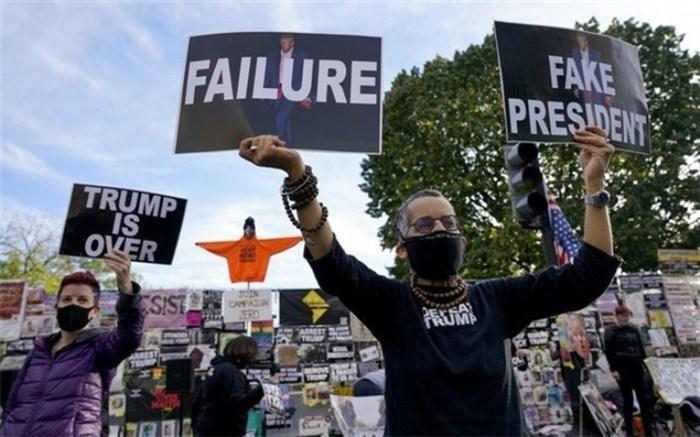تظاهرات ضد ترامپ مقابل کاخ سفید